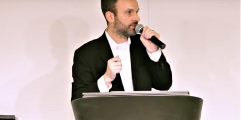YouTube screenshot of David Carroll, an associate professor of media design at the Parsons School of Design