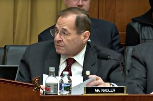 YouTube screenshot of U.S. Rep. Jerrold Nadler, a New York Democrat whose district includes part of Brooklyn and the west side of Manhattan, shown here at a December 12, 2017, meeting of the House Judiciary Committee