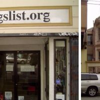 Two views of Craigslist's former world headquarters in San Francisco's Sunset District
