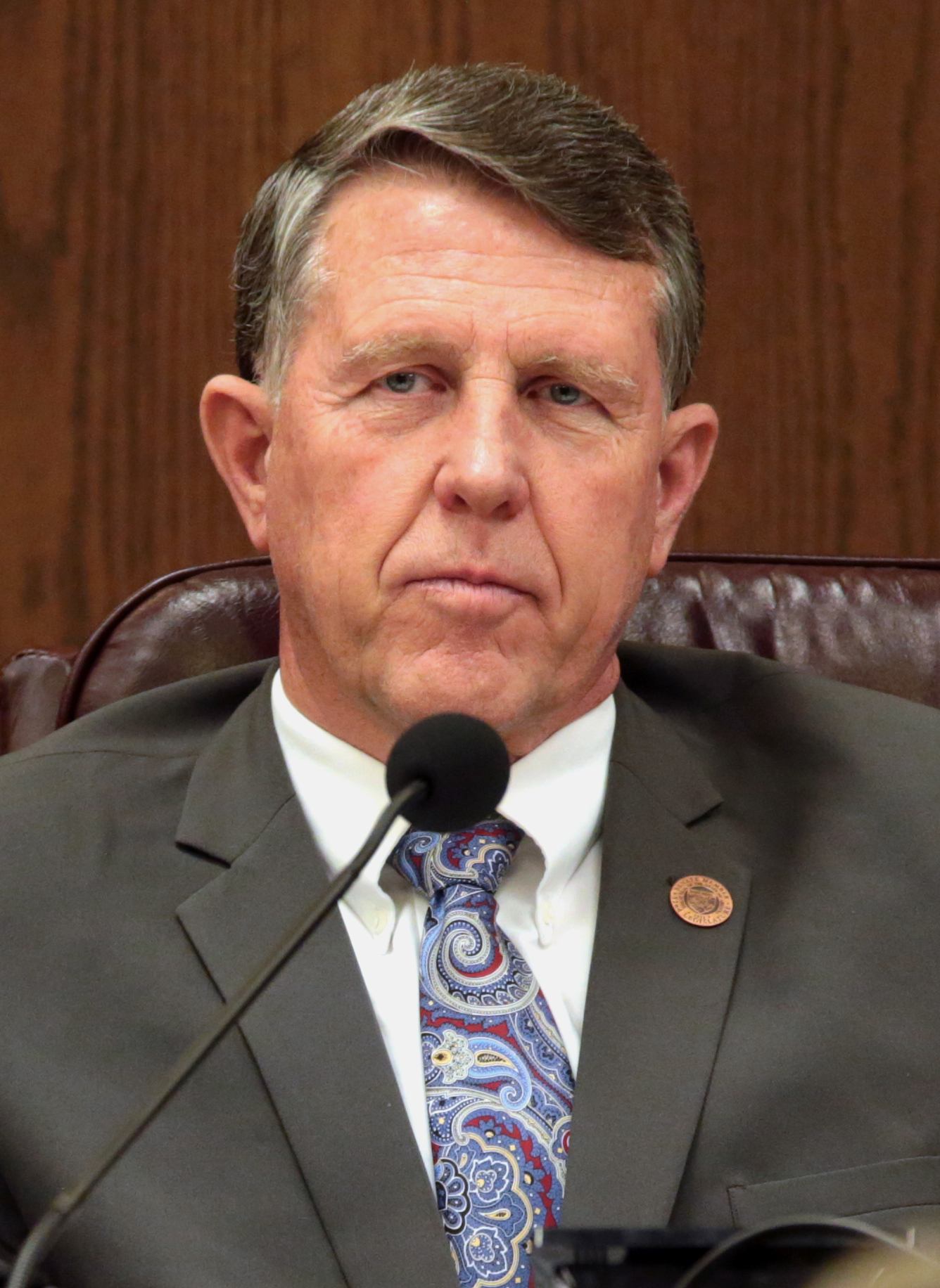 close-up color photo of Arizona state Sen. David C. Farnsworth of Mesa