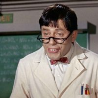 screenshot from The Nutty Professor, the popular 1963 movie starring Jerry Lewis in a Jekyll-Hyde role
