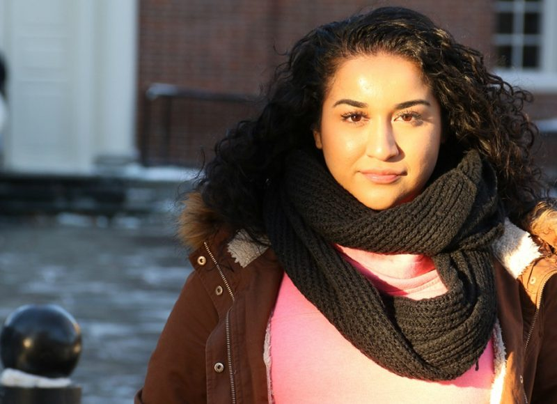 Photo of 24-year-old Ivette Salazar, a student who sued Joliet Junior College on First Amendment grounds