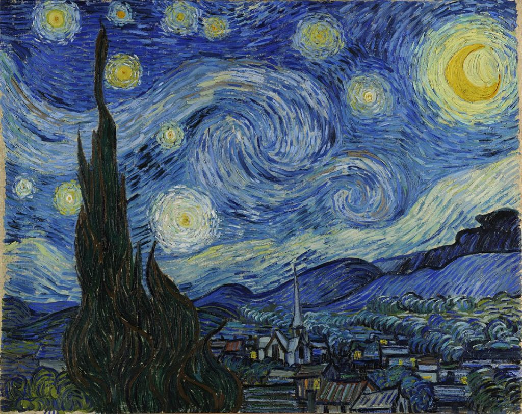 "Image of the Vincent Van Gogh painting, ""The Starry Night."""