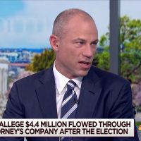 screenshot of attorney Michael Avenatti during a May 9, 2018, interview on the MSNBC news program 'Morning Joe'