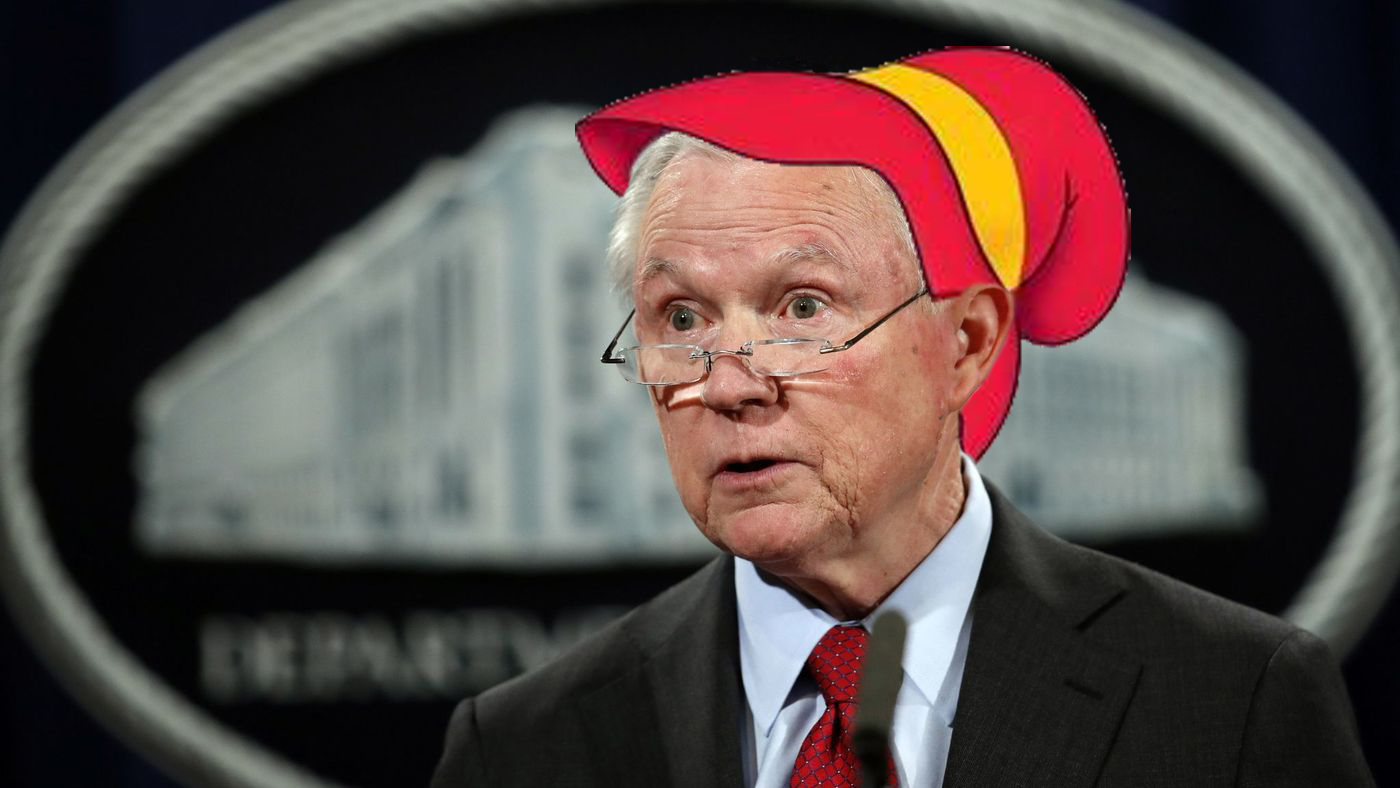 U.S. Attorney General Jeff Sessions accidentally reveals that he's the Keebler elf