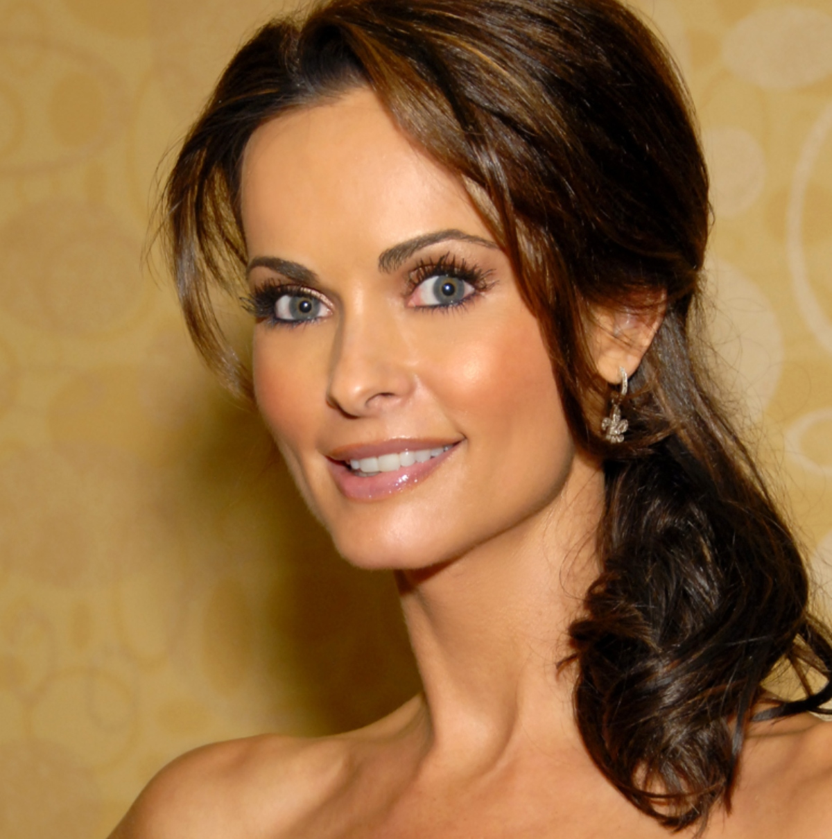 Headshot of former Playboy model Karen McDougal smiling