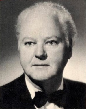 Black-and-white headshot of H.L. Hunt, circa 1965