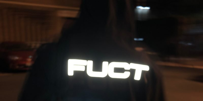 Image of a hoodie with FUCT on it.