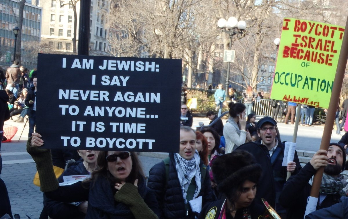 Photo of a protest in Manhattan.