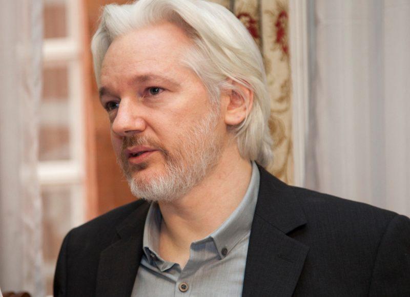 Photo of Julian Assange.