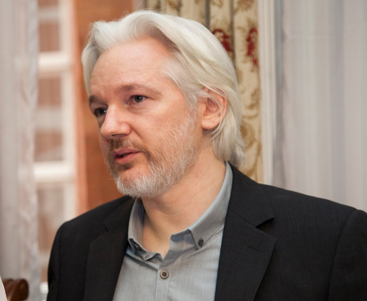 Photo of Julian Assange.