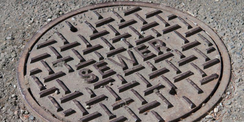 A manhole cover.