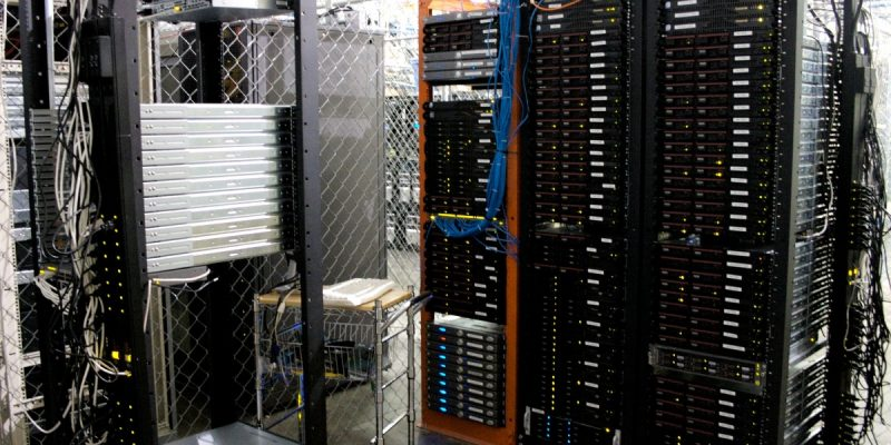 A photo of servers.