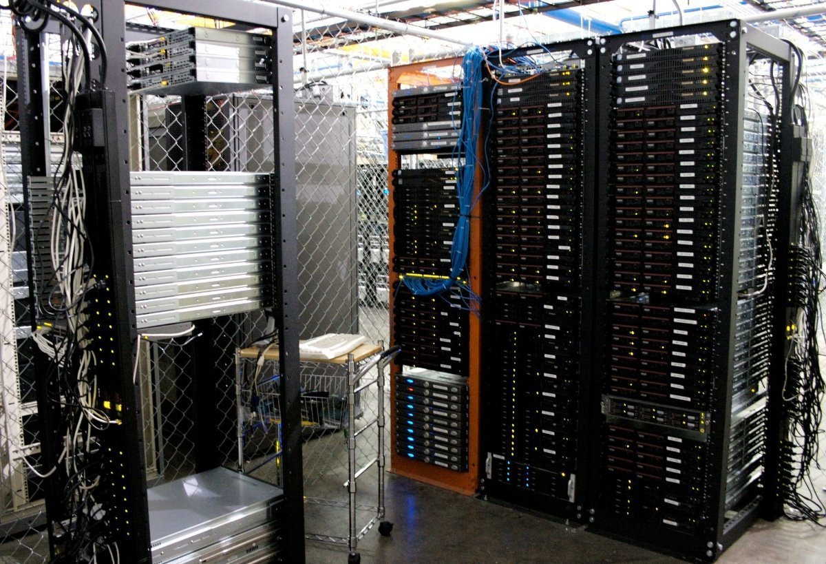 A photo of servers.