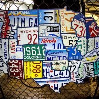 Follow License plate USA