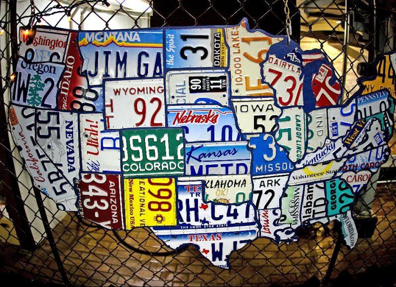 Follow License plate USA