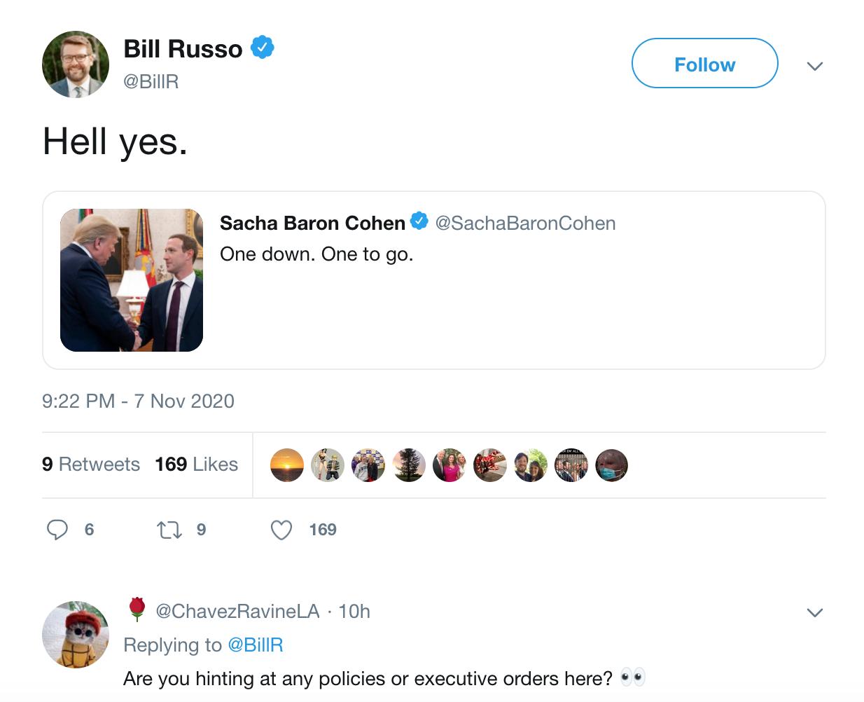 Russo Tweet