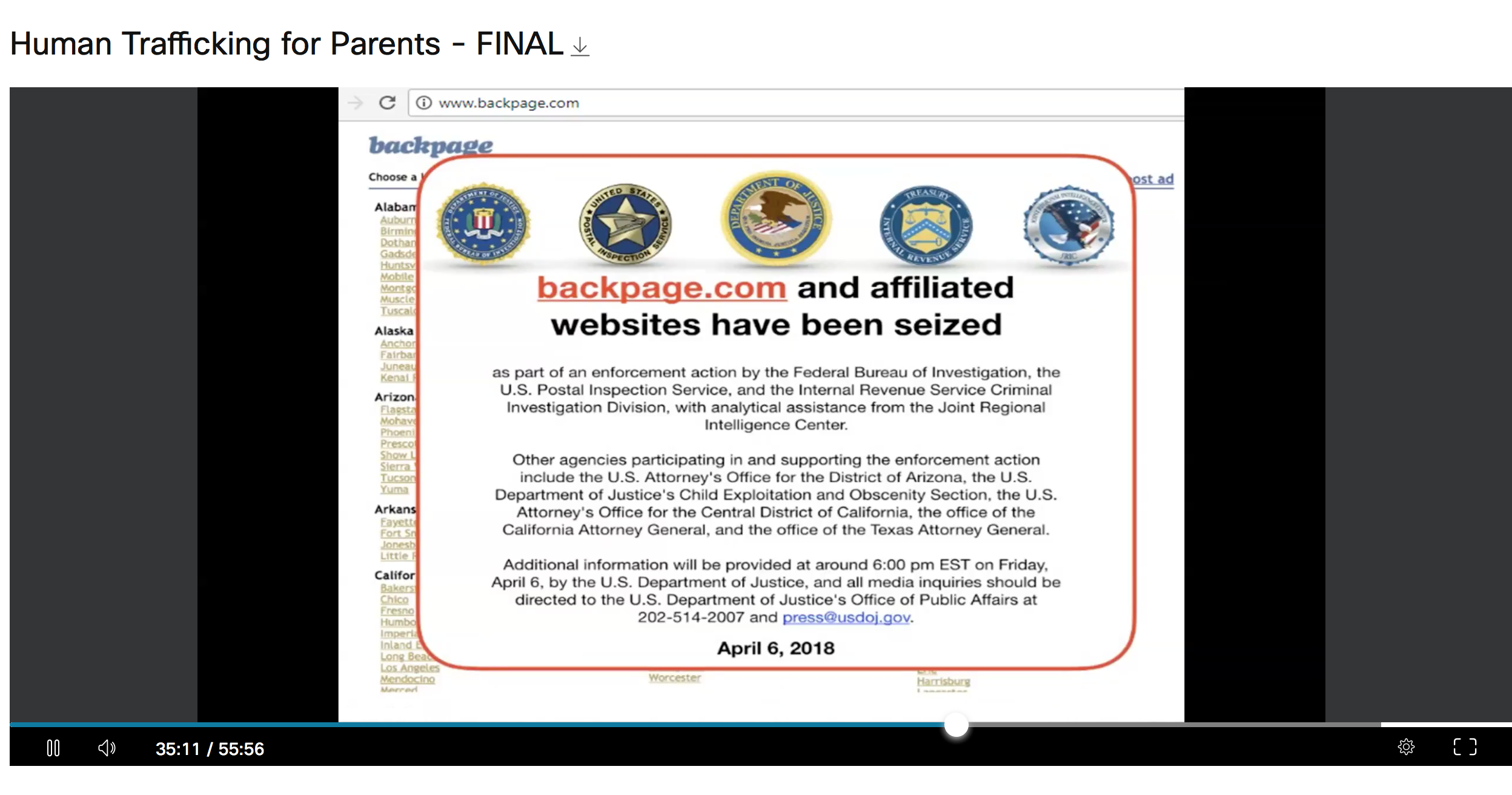 Backpage Webinar